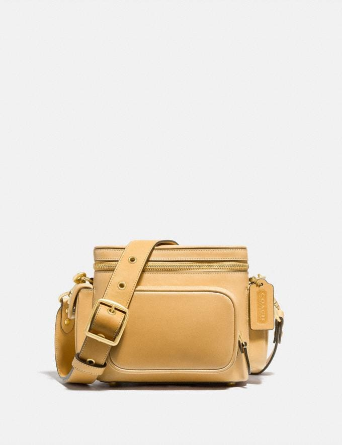 Coach Utility Crossbody 18 in Original Natural Leather Turmeric Root