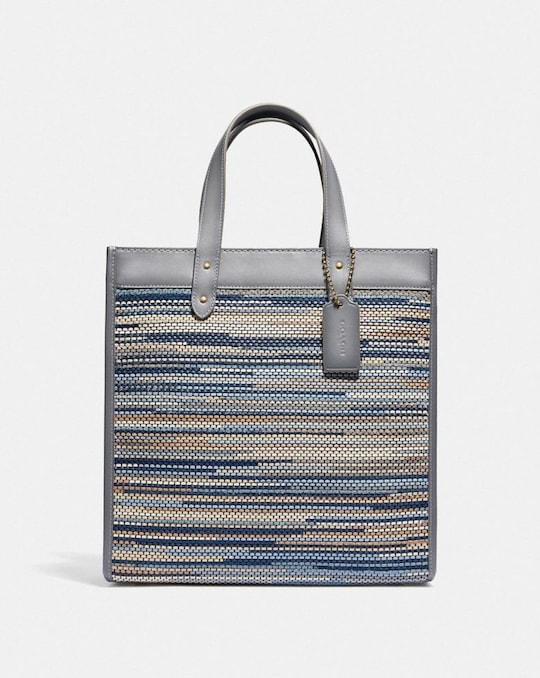 FIELD TOTE IN UPWOVEN LEATHER