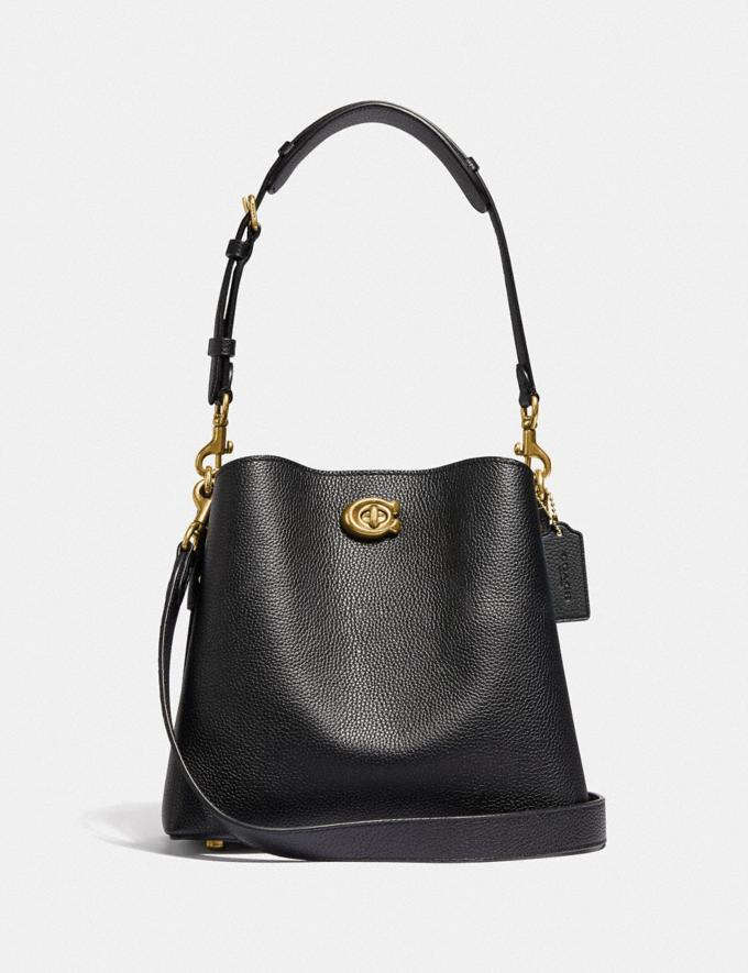 Coach Willow Bucket Bag Brass/Black New Women's New Arrivals Bags