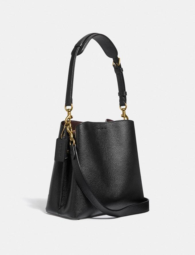 Coach Willow Bucket Bag Brass/Black New Women's New Arrivals Bags Alternate View 1