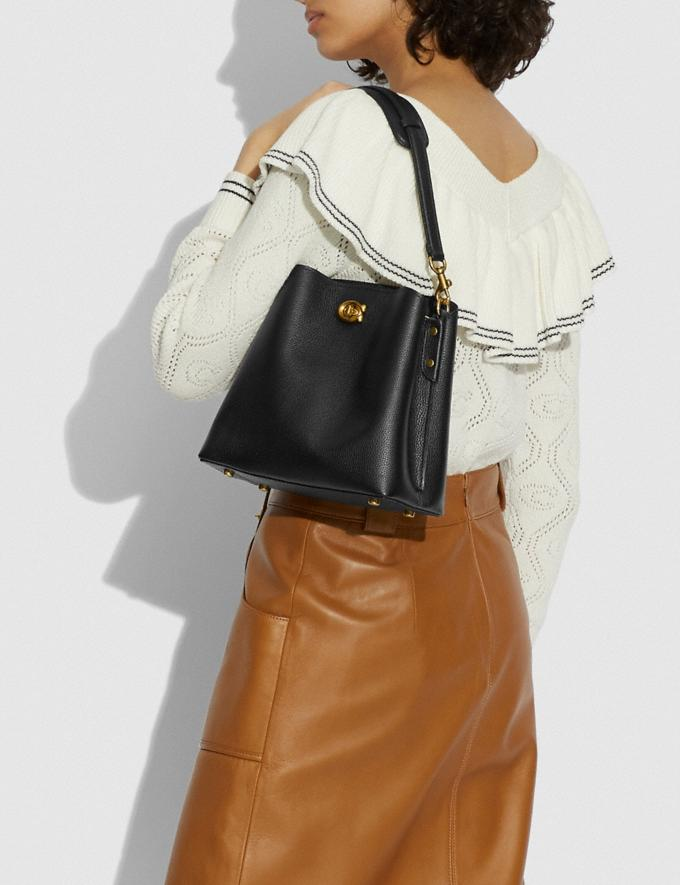 Coach Willow Bucket Bag Brass/Black New Women's New Arrivals Bags Alternate View 5