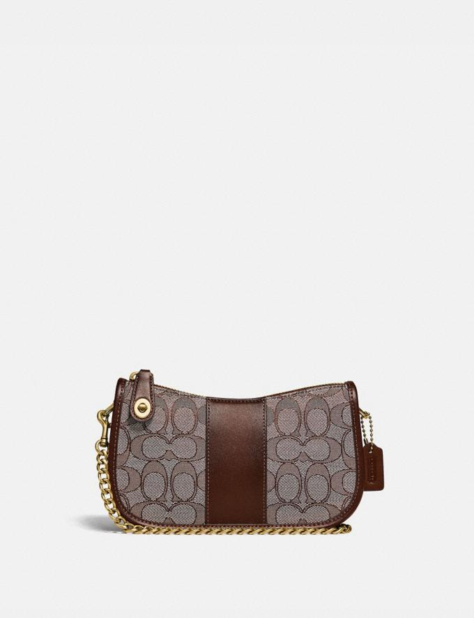 Coach Swinger 20 in Signature Jacquard B4/Oak Maple New Women's New Arrivals Small Leather Goods
