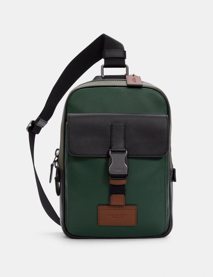 Coach Track Pack in Colorblock Qb/Dark Clover Multi DEFAULT_CATEGORY