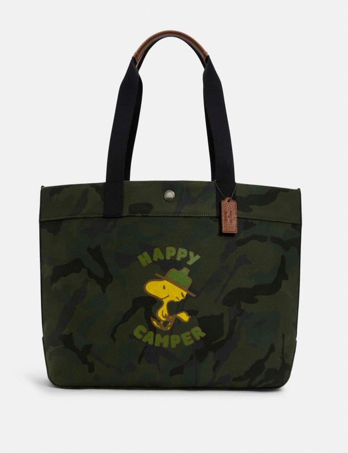 Coach Coach X Peanuts Tote With Woodstock Qb/Green Multi DEFAULT_CATEGORY