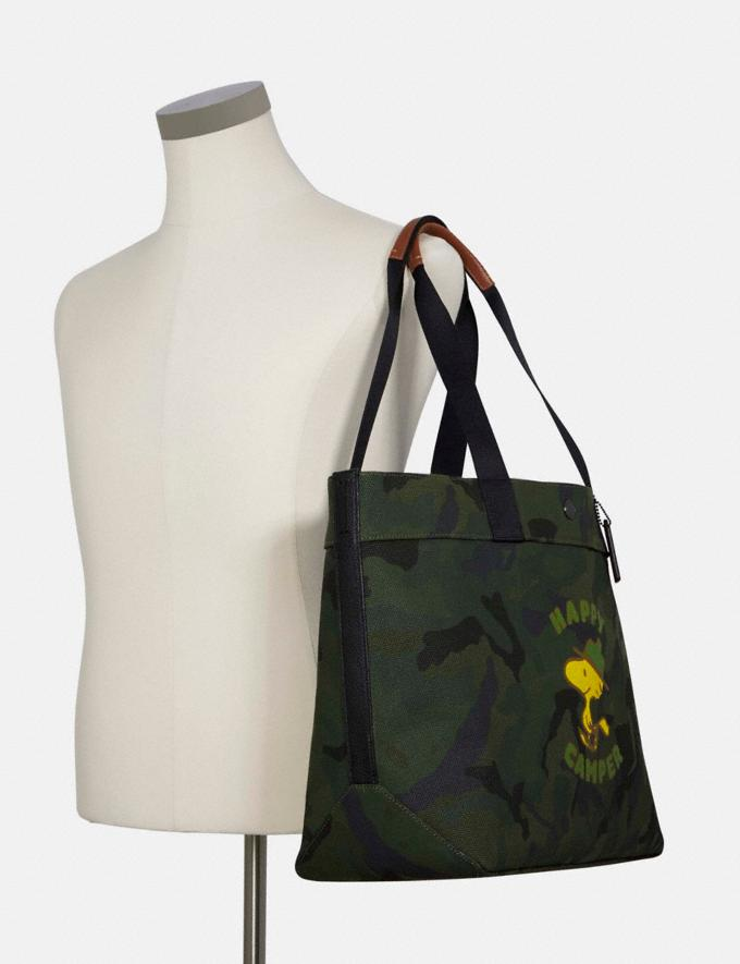 Coach Coach X Peanuts Tote With Woodstock Qb/Green Multi DEFAULT_CATEGORY Alternate View 3