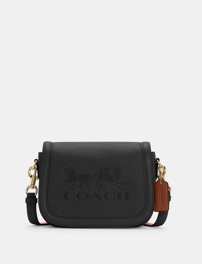 Coach Saddle Bag With Horse and Carriage Im/Black/Redwood DEFAULT_CATEGORY