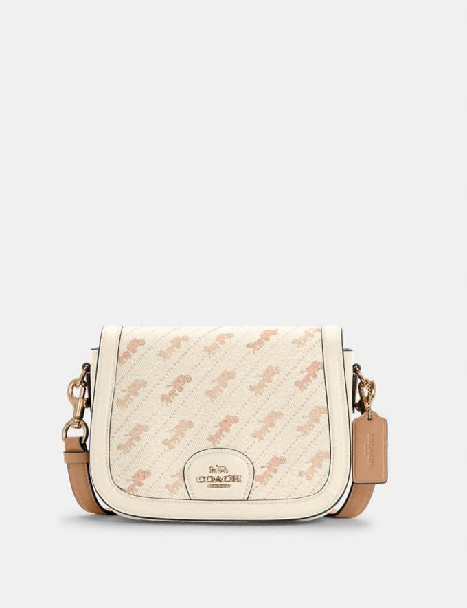 Coach Saddle Bag With Horse and Carriage Dot Print Im/Cream DEFAULT_CATEGORY