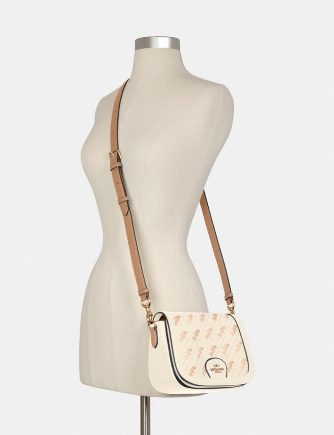 Coach Saddle Bag With Horse and Carriage Dot Print Im/Cream DEFAULT_CATEGORY Alternate View 2