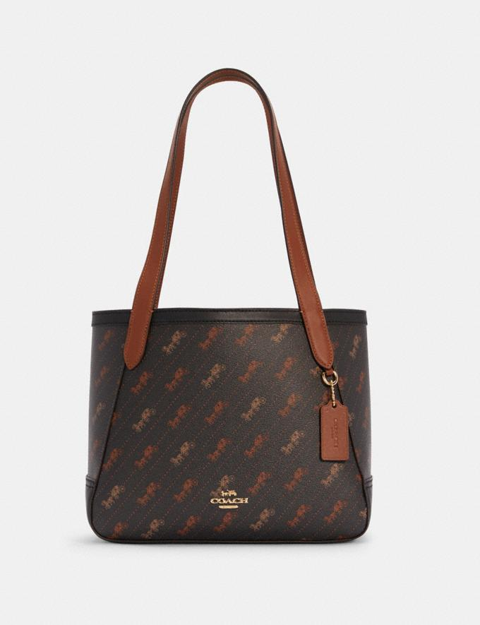 Coach Horse and Carriage Tote 27 With Horse and Carriage Dot Print Im/Black What's New Online Exclusives