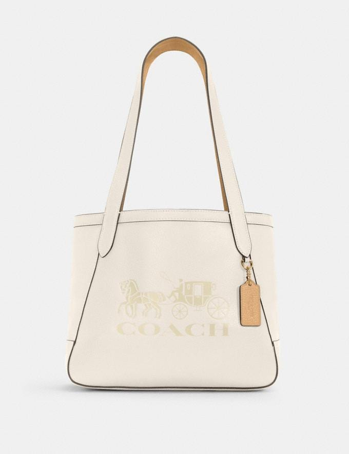 Coach Horse and Carriage Tote 27 With Horse and Carriage Im/Chalk/Vanilla Cream DEFAULT_CATEGORY