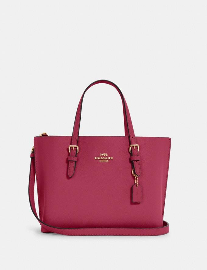 Coach Mollie Tote 25 Im/Bright Violet/Cherry Outlet Women's Bags
