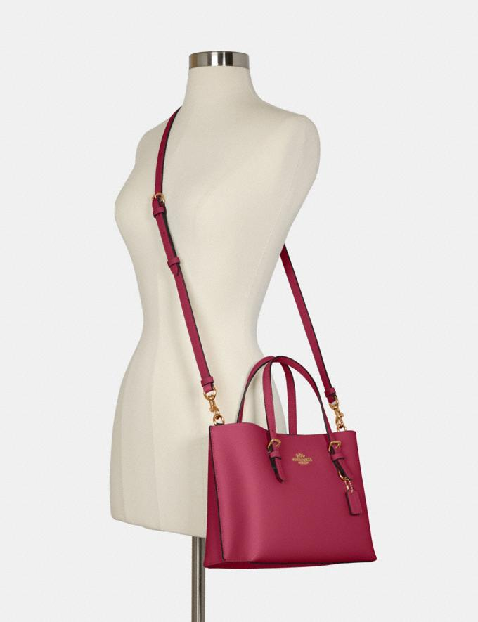 Coach Mollie Tote 25 Im/Bright Violet/Cherry Outlet Women's Bags Alternate View 3