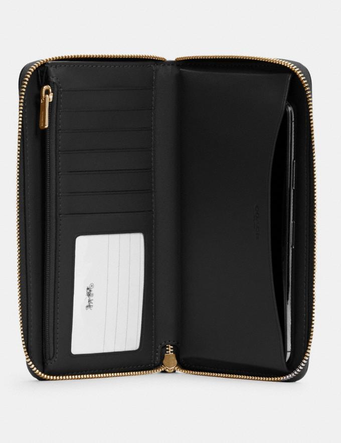 Coach Dempsey Large Phone Wallet Im/Black DEFAULT_CATEGORY Alternate View 1