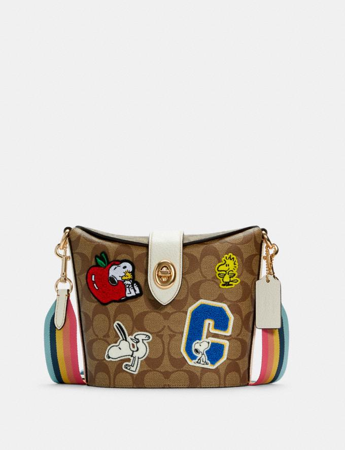 Coach Coach X Peanuts Addie Crossbody in Signature Canvas With Varsity Patches Im/Khaki Chalk Multi Coach Insider Coach Insider Exclusives Early Access: Coach x Peanuts