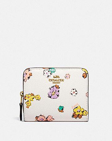 cartera billetera con estampado floral