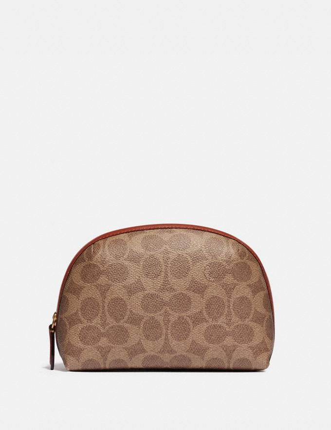 Coach Julienne Cosmetic Case 17 in Signature Canvas B4/Tan Rust null
