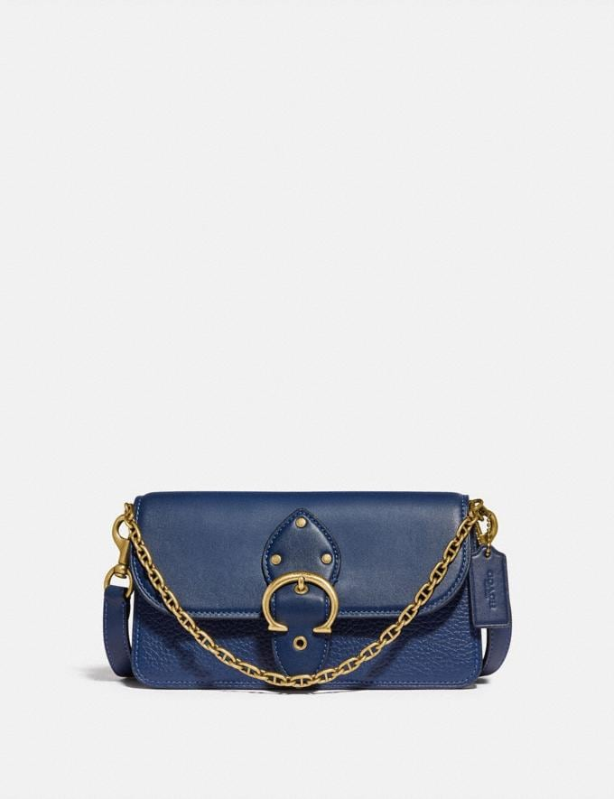 Coach Beat Crossbody Clutch Brass/Deep Blue null