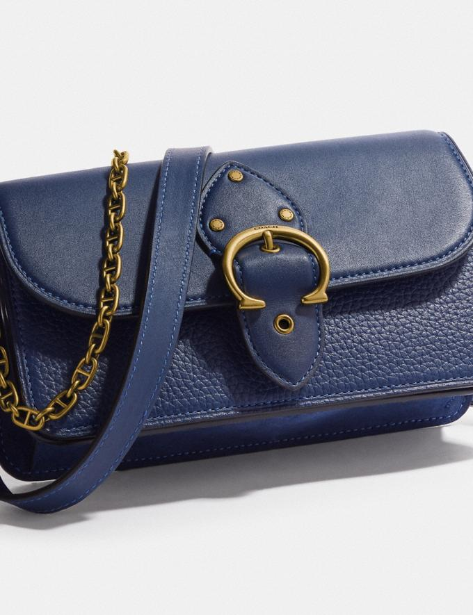 Coach Beat Crossbody Clutch Brass/Deep Blue null Alternate View 4
