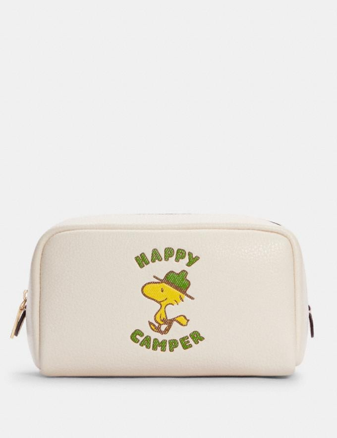 Coach Coach X Peanuts Small Boxy Cosmetic Case With Woodstock Im/Chalk Multi DEFAULT_CATEGORY