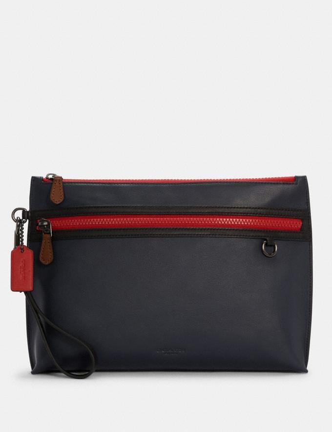 Coach Carryall Pouch in Colorblock Qb/Midnight Multi DEFAULT_CATEGORY