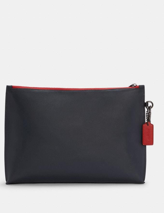 Coach Carryall Pouch in Colorblock Qb/Midnight Multi DEFAULT_CATEGORY Alternate View 1