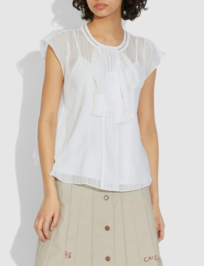 Coach Ruffle Blouse Ivory  Alternate View 1