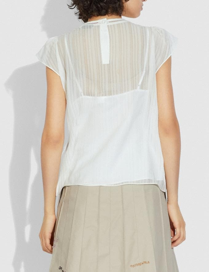 Coach Ruffle Blouse Ivory  Alternate View 2