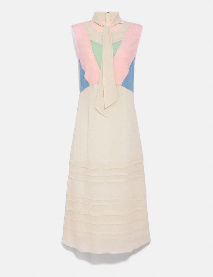 Coach Paint by the Numbers Dress Pale Yellow