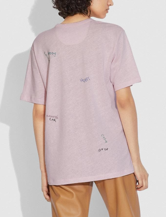 Coach T-Shirt With Pocket Blossom Pink  Alternate View 2