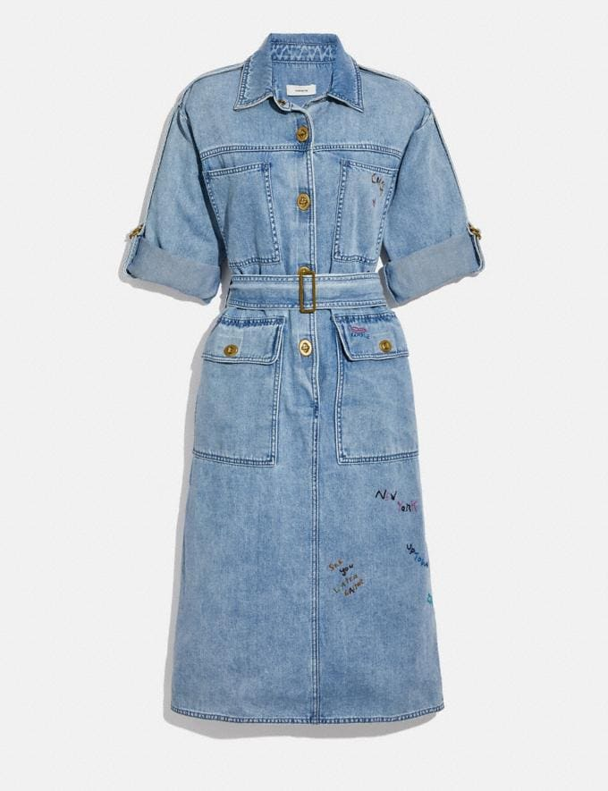 Coach Denim Dress Vintage Stone Wash