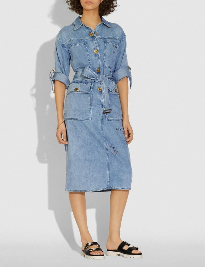 Coach Denim Dress Vintage Stone Wash  Alternate View 1