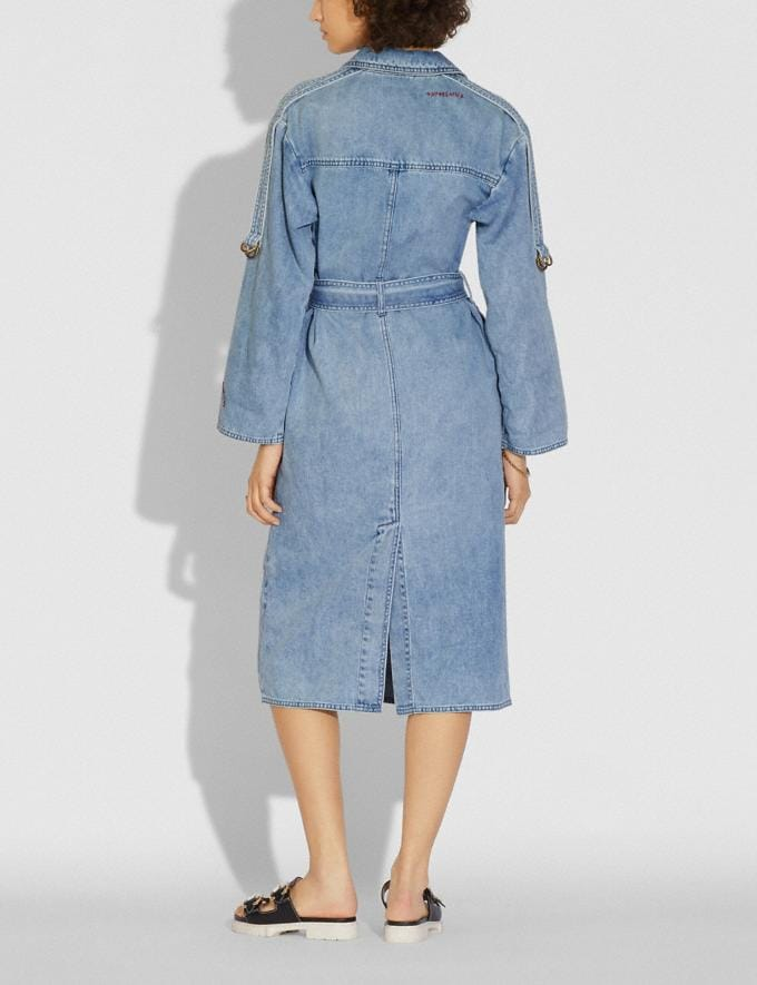 Coach Denim Dress Vintage Stone Wash  Alternate View 2