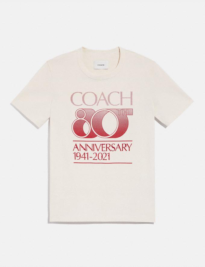 Coach Coach T-Shirt Zum 80-JÄHrigen JubilÄUm Antikweiss