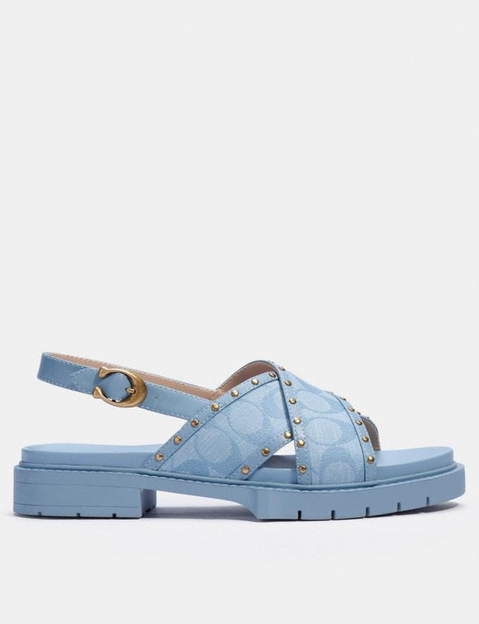 Coach Palmer Sandal Light Wash null Alternate View 1