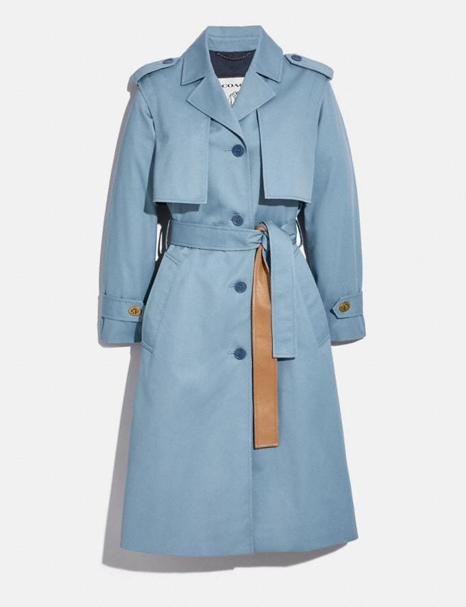 Coach Minimal Trench Pale Blue