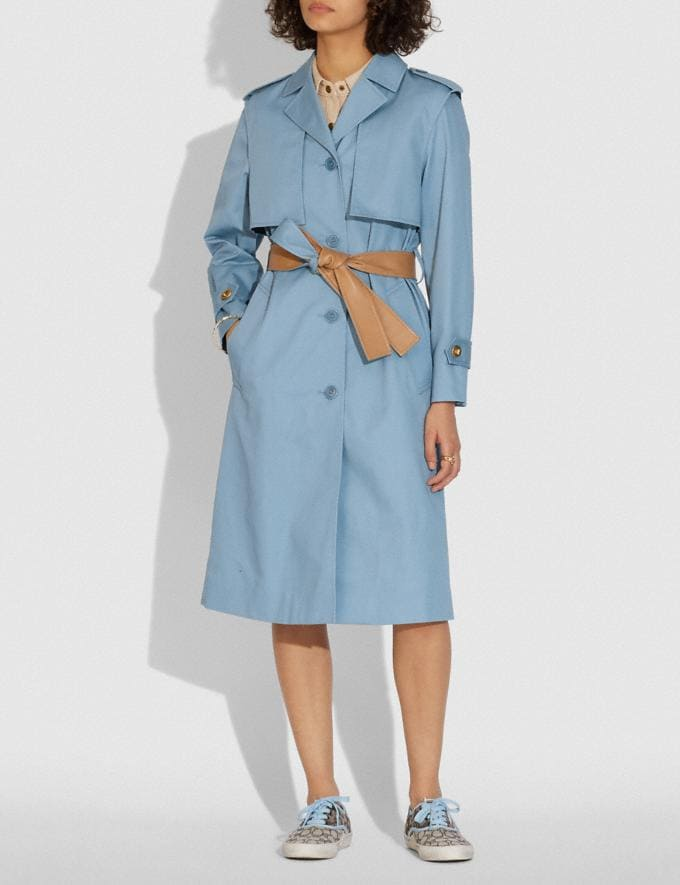 Coach Minimal Trench Pale Blue  Alternate View 1