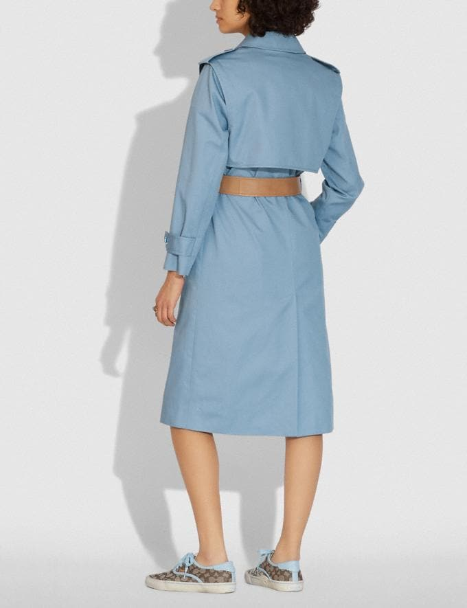 Coach Minimal Trench Pale Blue  Alternate View 2