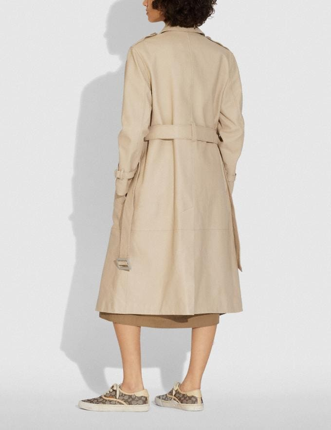 Coach Lightweight Leather Trench Faded Sand  Alternate View 2