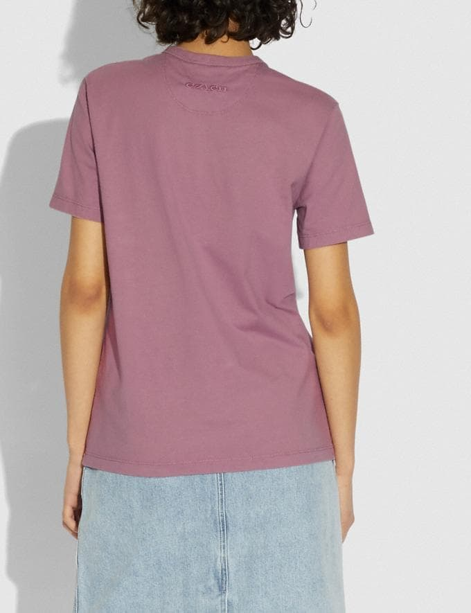 Coach Green Is Groovy T-Shirt in Organic Cotton Organic Pink DEFAULT_CATEGORY Alternate View 2