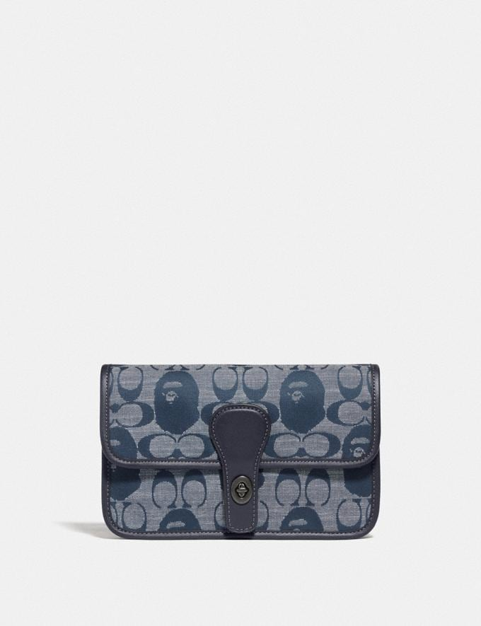 Coach Bape X Coach Turnlock Tab Belt Bag in Signature Chambray Pewter/Chambray New Featured Bape x Coach Bape x Coach