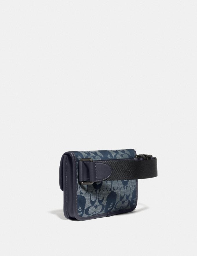 Coach Bape X Coach Turnlock Tab Belt Bag in Signature Chambray Pewter/Chambray New Featured Bape x Coach Bape x Coach Alternate View 1