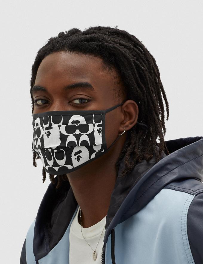 Coach Bape X Coach Face Mask Black/White 7.1 translations Alternate View 1