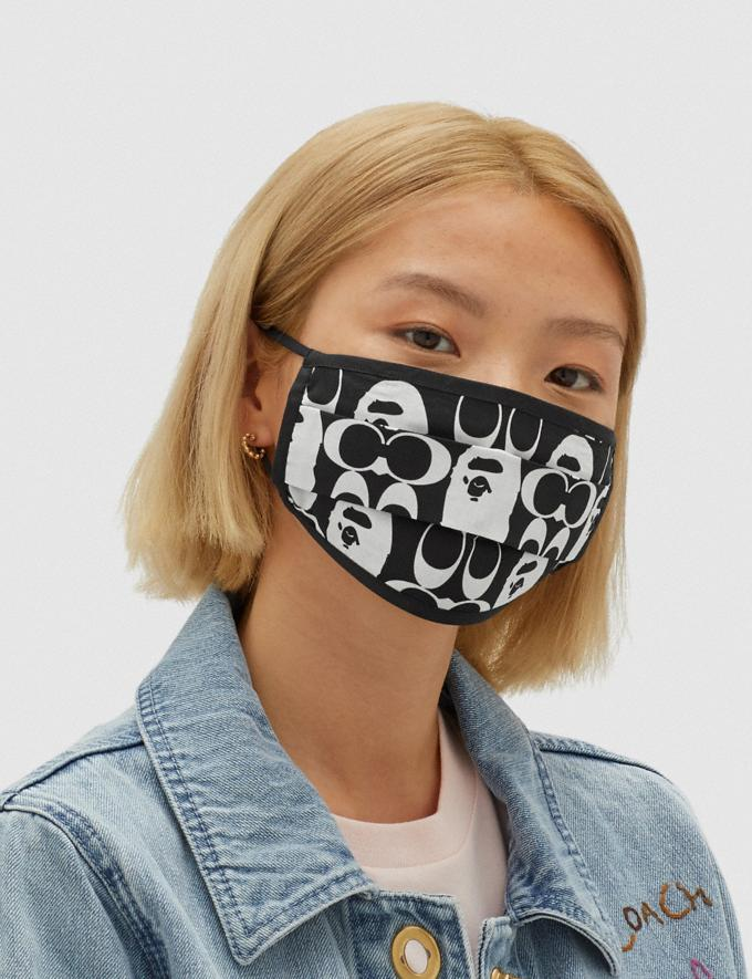 Coach Bape X Coach Face Mask Black/White 7.1 translations Alternate View 2