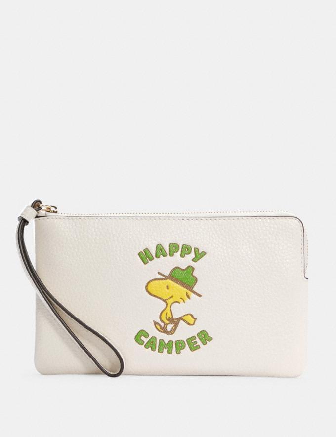 Coach Coach X Peanuts Large Corner Zip Wristlet With Woodstock Im/Chalk Multi DEFAULT_CATEGORY