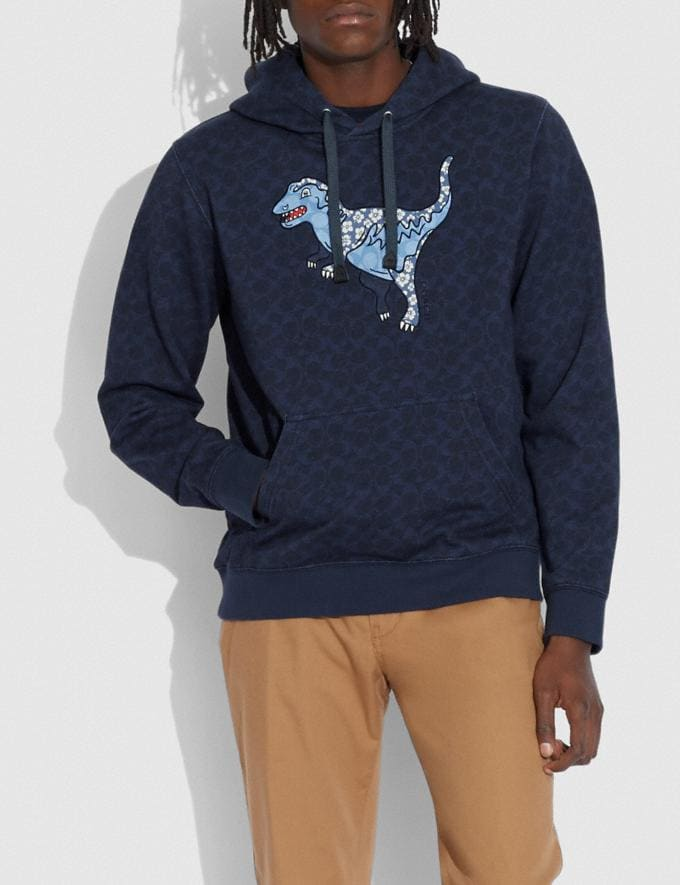 Coach Signature Rexy Hoodie Navy null