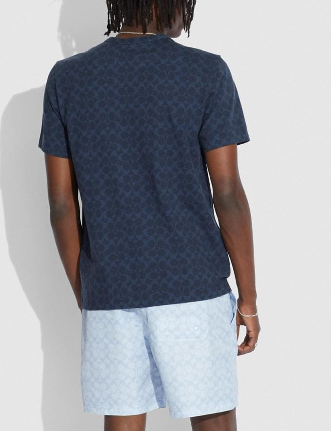 Coach Signature Rexy T-Shirt in Organic Cotton Navy Translations 5.1 Retail Alternate View 2