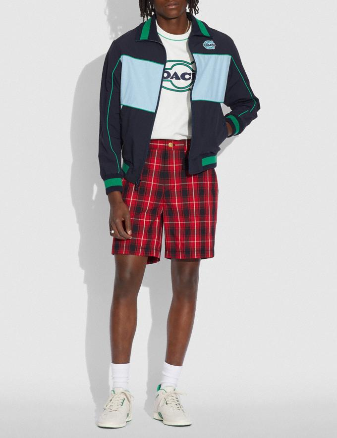 Coach Colorblock Mashup Windbreaker in Recycled Nylon Navy White Translations 6.1-Otheroutlet Alternate View 1