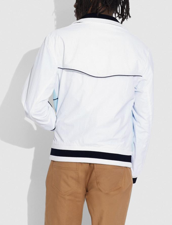 Coach Colorblock Mashup Windbreaker in Recycled Nylon White Translations 6.1-Otheroutlet Alternate View 2
