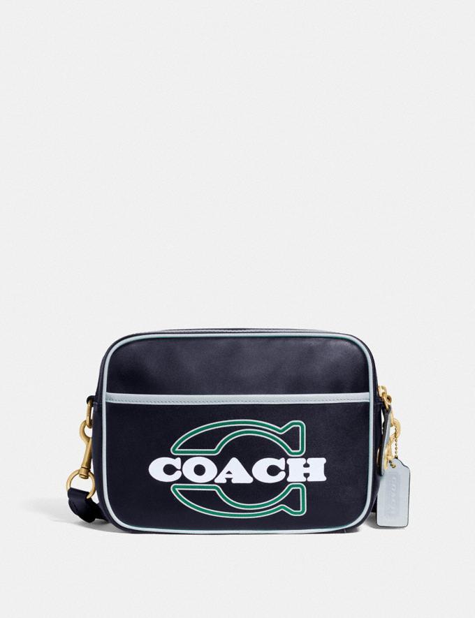 Coach Flight Bag Brass/Midnight/Blue New Men's New Arrivals Bags
