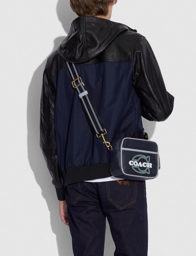Coach Flight Bag Brass/Midnight/Blue New Men's New Arrivals Bags Alternate View 3